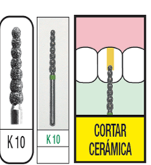 Fresas Multicapa Diamante - K10