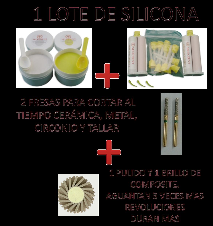 OFERTA SILICONA + FRESAS